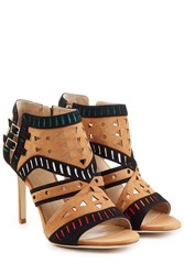 Tamara Mellon Suede Arizona Sandals Brown