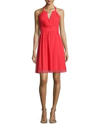 Laundry By Shelli Segal Embellished Neck Chiffon Coc High Risk Red