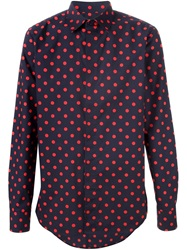 Marni Polka Dot Print Shirt Red