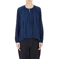 Pas De Calais Women's Voile And Gauze Tunic Navy