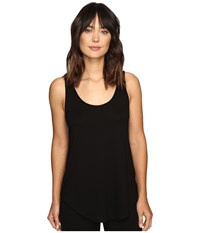 Lilla P Pima Modal Shirttail Scoop Black Women's Clothing