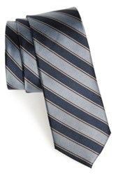 1901 'Symra' Stripe Silk Tie Blue
