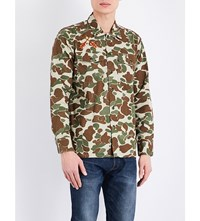 Levi's Camouflage Military Jacket Camo Duck Green