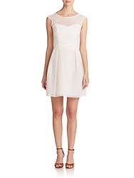 Shoshanna Bibi Eyelet Sweetheart Dress White