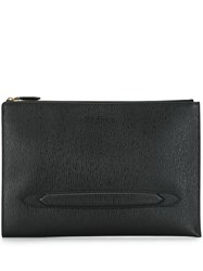 Salvatore Ferragamo Textured Clutch Black