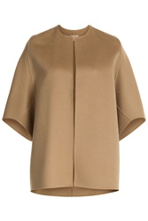 Michael Kors Cape With Virgin Wool Angora And Cashgora Camel