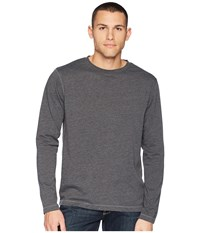 White Sierra Bug Free Jersey Long Sleeve Crew Charcoal Heather Long Sleeve Pullover Gray