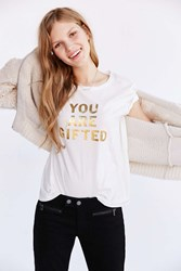 Project Social T Gifted Tee Ivory