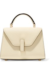 Valextra Iside Micro Textured Leather Shoulder Bag Cream