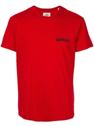 Kent And Curwen Logo Patch T Shirt Red