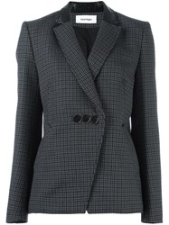 Courreges Houndstooth Blazer Blue
