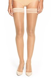 Women's Falke 'Pure Matt 20' Sheer Thigh High Stockings Powder