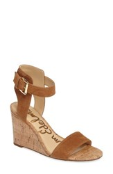Sam Edelman Women's Willow Strappy Wedge Sandal Saddle Leather