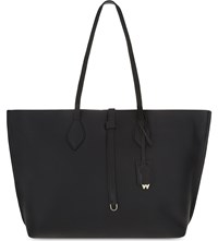 Whistles Regent Soft Grained Leather Tote Black
