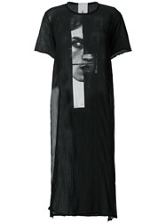 Lost And Found Rooms Long Printed Sheer T Shrit Black