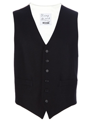 Moschino Cheap And Chic Vintage Hug Me Waistcoat Black