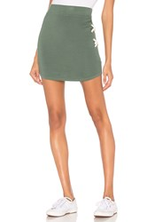 Monrow Supersoft Lacing Skirt Green