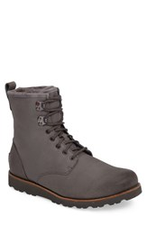 Uggr Men's Ugg 'Hannen' Plain Toe Waterproof Boot With Genuine Shearling Metal Leather