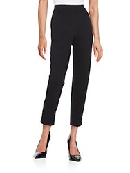 Lafayette 148 New York Cropped Knit Pants Black