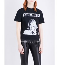 Enfants Riches Deprimes Mulholland Drive Cotton Jersey T Shirt Black