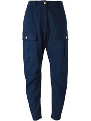 Love Moschino Tapered Cargo Trousers Blue