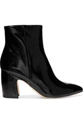 Sam Edelman Hilty Patent Leather Ankle Boots Black