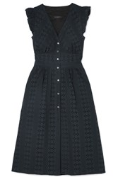 J.Crew Broderie Anglaise Cotton Poplin Dress Black