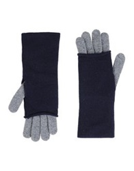 Kangra Cashmere Gloves Dark Blue