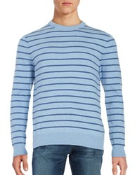 Black Brown Striped Crewneck Sweater Soft Navy