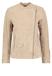 Abercrombie And Fitch Leather Jacket Stone Sand