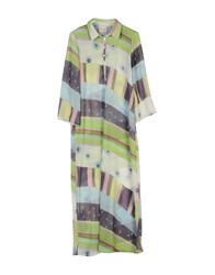 Lou Lou London Long Dresses Green