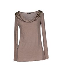 Silvian Heach Topwear T Shirts Women Dove Grey