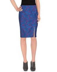 Pinko Black Skirts Knee Length Skirts Women Dark Blue