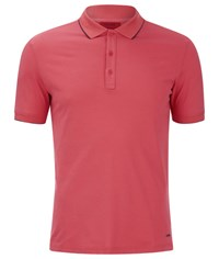 Hugo Men's Delorian Tipped Polo Shirt Coral