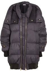 Stella Mccartney Mietta Hooded Quilted Shell Jacket Indigo