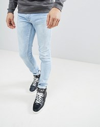 Versace Jeans Muscle Fit In Lightwash Blue