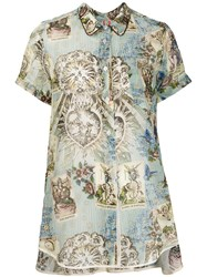 F.R.S For Restless Sleepers Printed High Low Hem Blouse 60