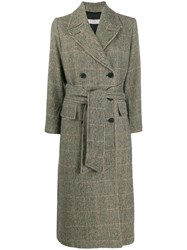 Alberto Biani Double Breasted Houndstooth Coat 60