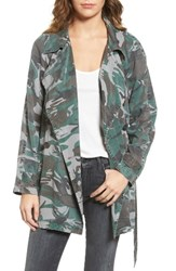 Pam And Gela Women's Camo Trench Coat