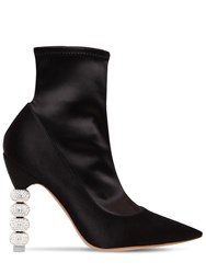 Sophia Webster 100Mm Jumbo Coco Satin Ankle Boots Black