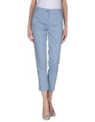 Manila Grace Denim Trousers Casual Trousers Women Pastel Blue