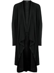 Unconditional Draped Long Cardigan Black