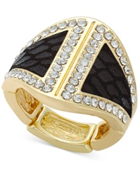 Thalia Sodi Gold Tone Faux Snake And Crystal Ring
