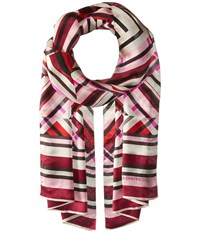 Vince Camuto Fractured Geo Oblong Beet Red Scarves