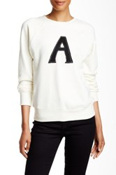 Ag Jeans Alexa Chung Scarlet Pullover White
