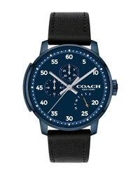 Coach 42Mm Men's Bleecker Leather Watch Black