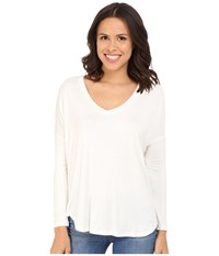 Culture Phit Maya V Neck Long Sleeve Top White Women's Clothing