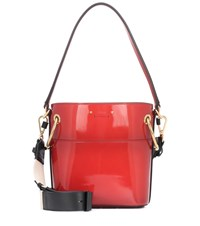 Chloe Roy Patent Leather Bucket Bag Red