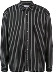 The Celect Striped Long Sleeve Shirt Black