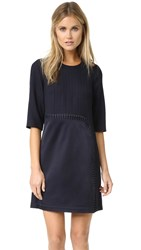 3.1 Phillip Lim Sack Dress With Curved Lacing Midnight